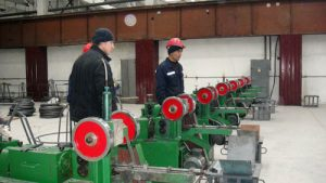 this is a photo Welding electrode rod wire production line for Uzbekistan