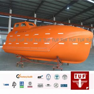 Video for TUF marine ship offshore totally enclosed lifeboat water tests