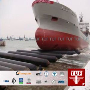 TUF rubber ship launching marine rubber airbags meet ISO14409 standard