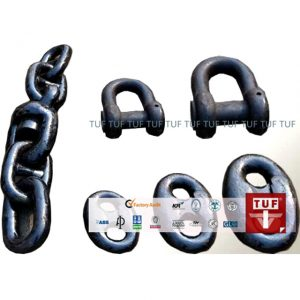 TUF produces U2 U3 marine mooring chain and shackles