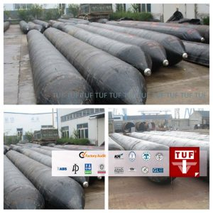 Ship launching marine rubber air bags