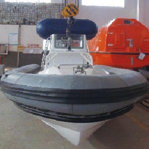 Rigid hulled inflatable boat RHIB boat