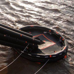 TUF marine evacuation slide system