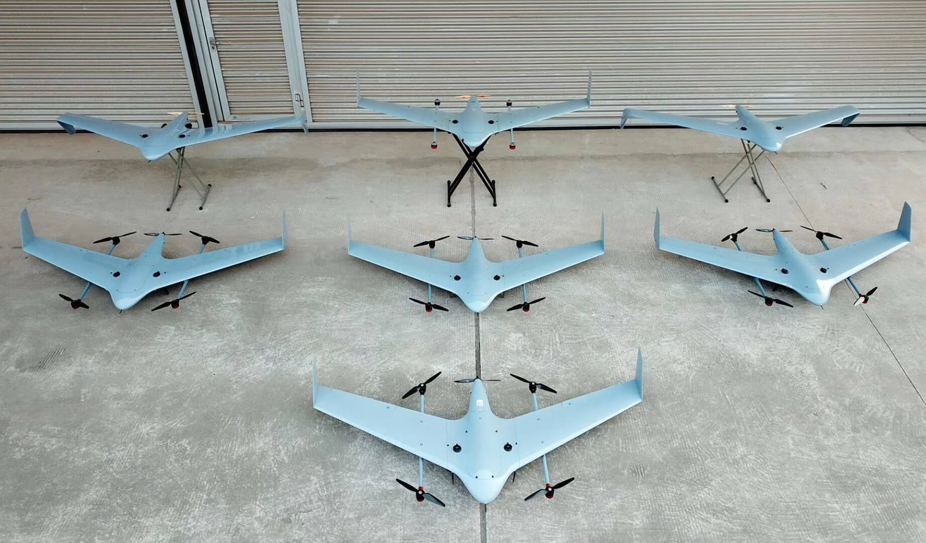PP-3V ELECTRIC FIXED WING VERTICAL TAKEOFF VTOL UAV | TUF