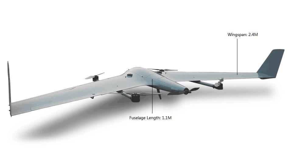 PP-3V ELECTRIC FIXED WING VERTICAL TAKEOFF VTOL UAV   TUF